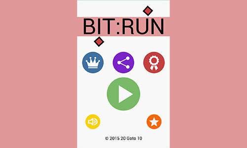 Bit:Run title-screen Screenshot
